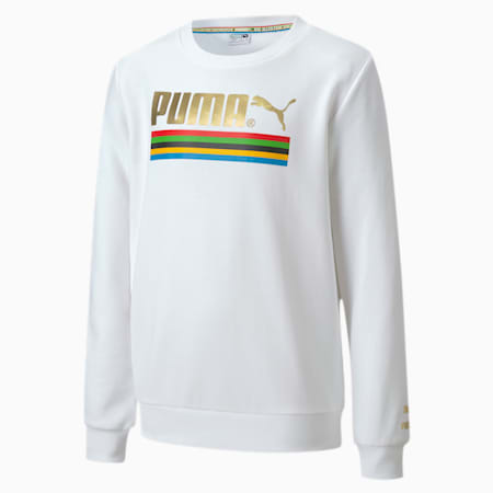 The Unity Collection TFS Crew Neck Kid's Sweater, Puma White, small-IND