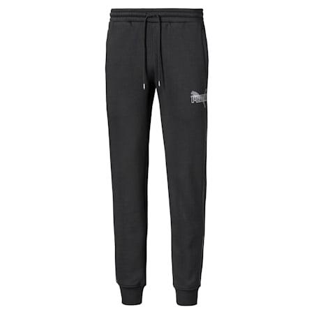 Iridescent Men's Sweatpants, Cotton Black, small