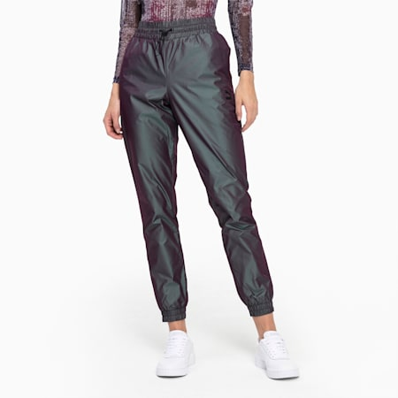 Iridescent Pack Woven Women's Pants, Plum Perfect-Iridescent, small