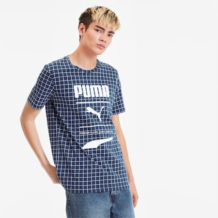 Recheck Pack All-Over-Print Men's Tee, Dress Blues-AOP, small