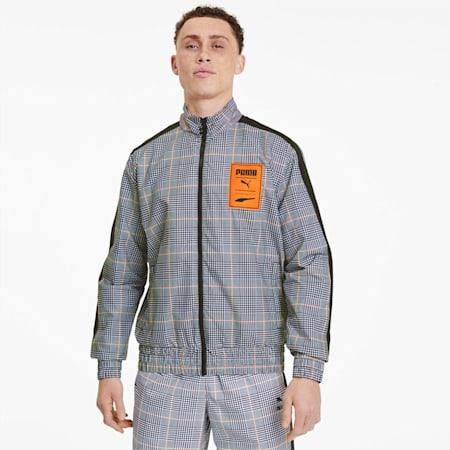 Recheck Pack Woven Men's Jacket, Puma Black-AOP, small