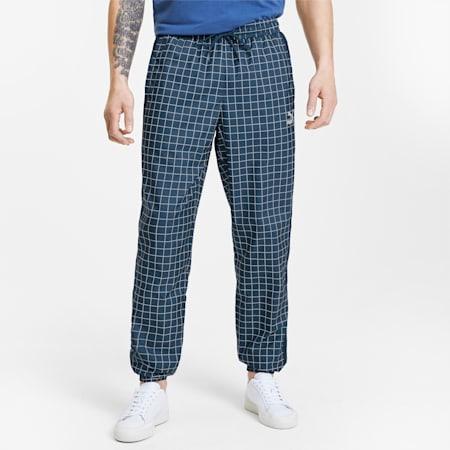 Recheck Pack Woven Men's Sweatpants, Dress Blues-AOP, small