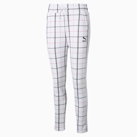 Recheck Pack Knitted Women's Sweatpants, Puma White-AOP, small