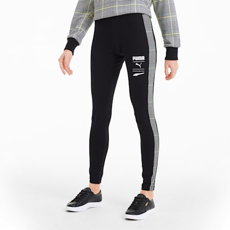Recheck Pack Women's Leggings, Cotton Black, small-SEA
