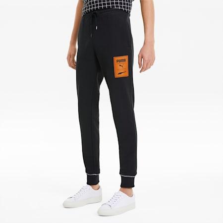 PUMA Recheck Pack Graphic Men's Sweatpants, Cotton Black, small-SEA