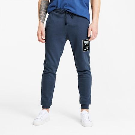PUMA Recheck Pack Graphic Men's Sweatpants, Dress Blues, small-SEA