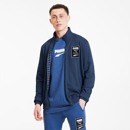 Recheck Pack Knitted Full-Zip Men's Jacket, Dress Blues, small-SEA