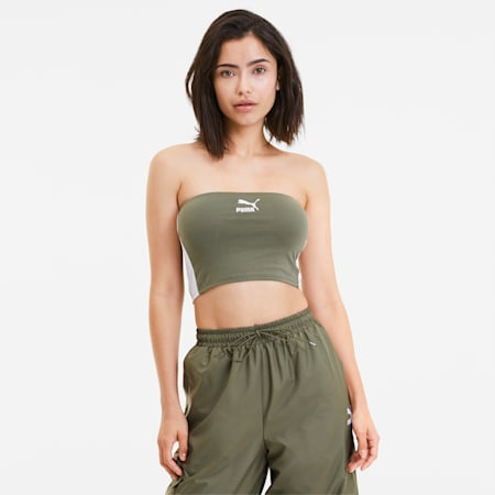 Classics Women's Bandeau Top, Deep Lichen Green, small