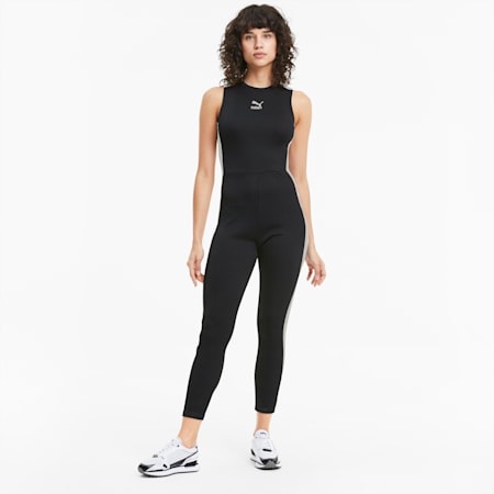 Classics T7 Damen Jumpsuit, Puma Black, small