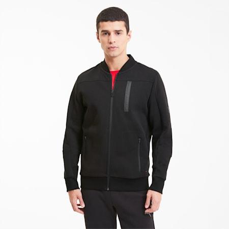 Ferrari Style Men's Slim Sweat Jacket, Puma Black, small-IND