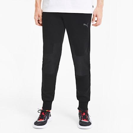Pantaloni da tuta da uomo Scuderia Ferrari Style con fondo gamba elasticizzato, Puma Black, small