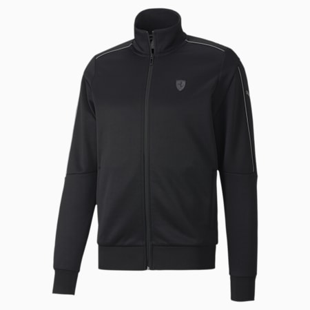 Ferrari Style T7 Men's Track Jacket, Puma Black, small-IND