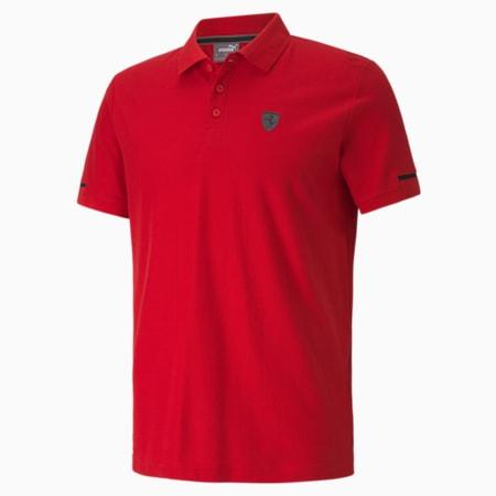 Scuderia Ferrari Style Men's Polo, Rosso Corsa, small