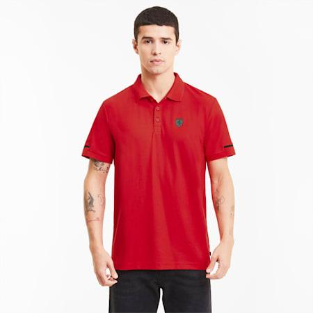 Scuderia Ferrari Style Men's Polo, Rosso Corsa, small-SEA