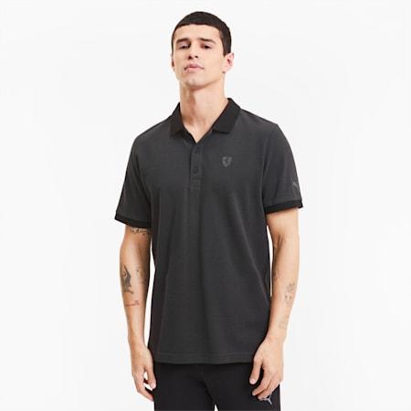 Scuderia Ferrari Style 2-Tone Men's Polo Shirt, Puma Black, small-IND