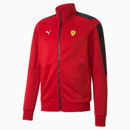 Scuderia Ferrari Race T7 Men's Track Jacket, Rosso Corsa, small-SEA