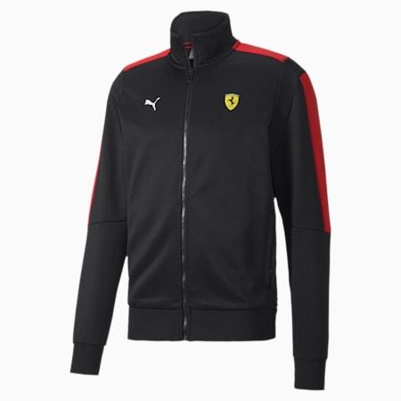 Ferrari Race T7 Regular Fit Men's Track Jacket, Puma Black, small-IND