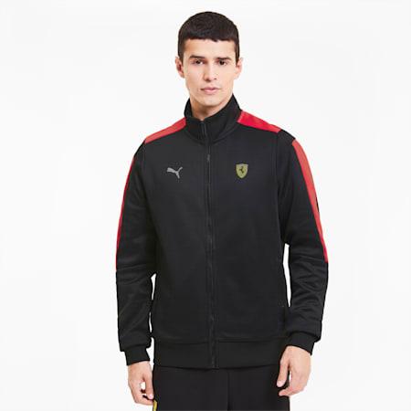Track jacket da uomo Scuderia Ferrari Race T7, Puma Black, small