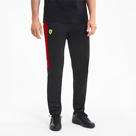 Scuderia Ferrari Race T7 Men's Track Pants, Puma Black, small-SEA