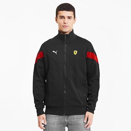 Scuderia Ferrari Race Men's Sweat Jacket, Puma Black, small-IND