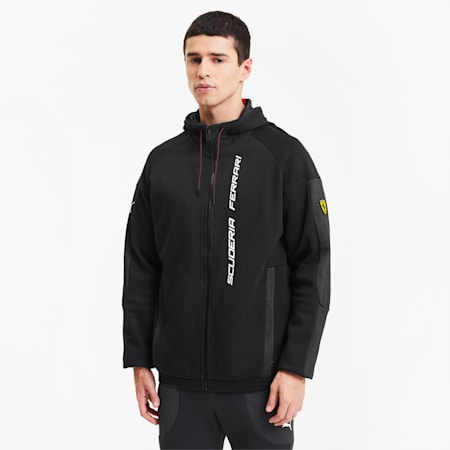 Scuderia Ferrari Race Men's Hooded Sweat Jacket, Puma Black, small
