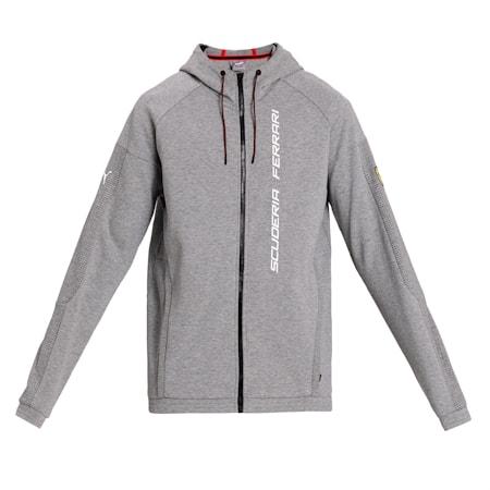 Scuderia Ferrari Race Men's Hooded Sweat Jacket, Medium Gray Heather, small