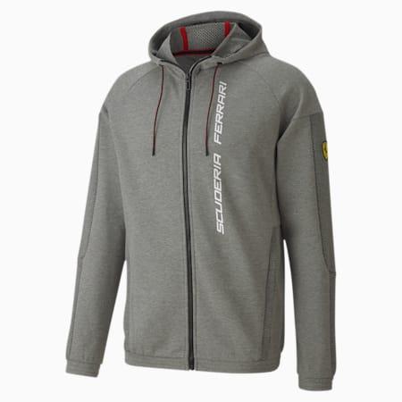 Ferrari Race Full-Zip Hooded Men's Sweat Jacket, Medium Gray Heather, small-IND