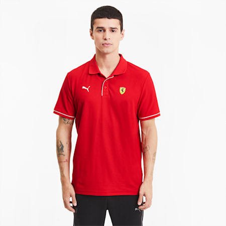 Scuderia Ferrari Race Men's Polo Shirt, Rosso Corsa, small-SEA