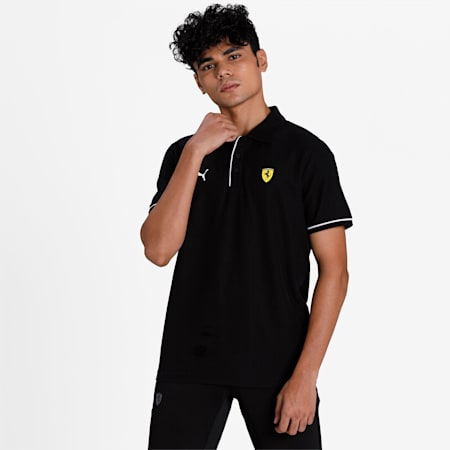 Scuderia Ferrari Race Men's Polo, Puma Black, small