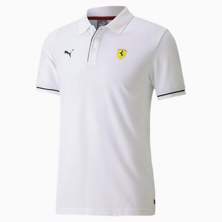 Scuderia Ferrari Race Men's Polo Shirt, Puma White, small-SEA