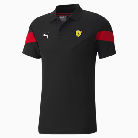 Scuderia Ferrari Race MCS Men's Polo Shirt, Puma Black, small-SEA