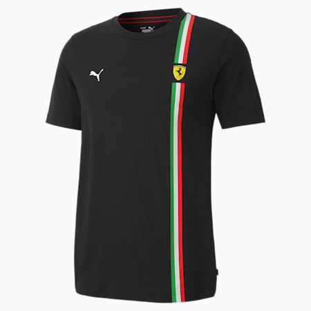 Ferrari Race Graphic Regular Fit Men's T-Shirt, Puma Black, small-IND