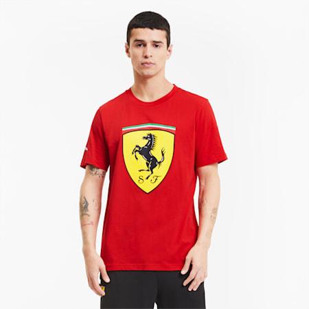 Scuderia Ferrari Race Big Shield Men's Tee, Rosso Corsa, small-SEA