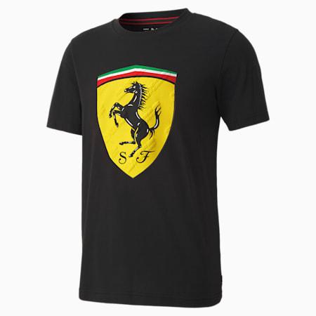 Scuderia Ferrari Race Big Shield Men's Tee, Puma Black, small-SEA