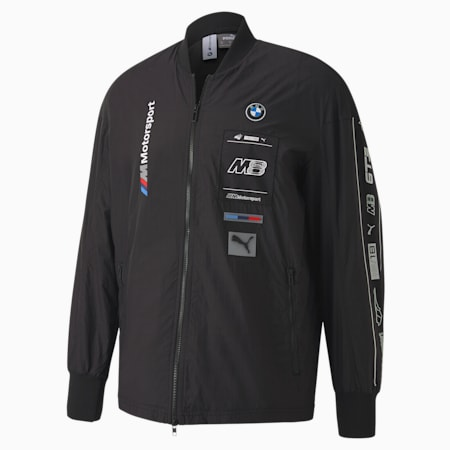 Chaqueta BMW M MotorsportStreet para hombre, Puma Black, pequeño
