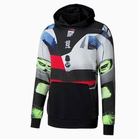 Sudadera con capucha BMW M Motorsport Street para hombre, Puma Black, pequeño