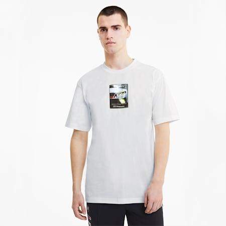 BMW M Motorsport Street Men's T-Shirt, Puma White, small-IND