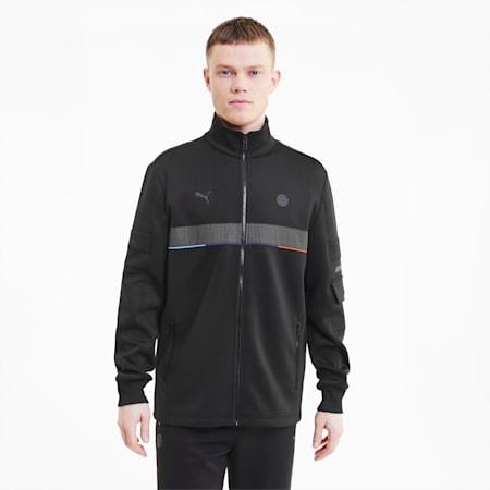 BMW Motorsport Life Reflective Logo Men's Sweat Jacket, Puma Black, small-IND