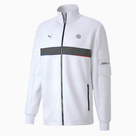 BMW Motorsport Life Reflective Logo Men's Sweat Jacket, Puma White, small-IND
