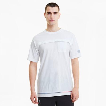 BMW Motorsport  Life Men's T-Shirt, Puma White, small-IND