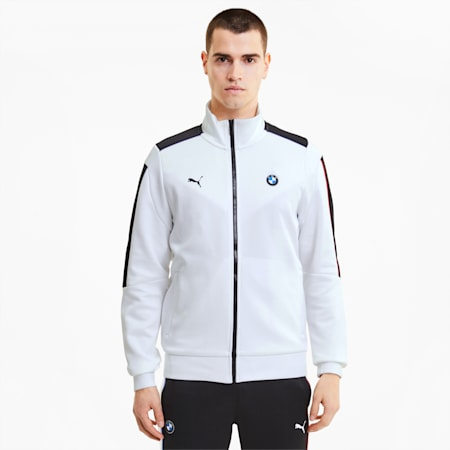 BMW M Motorsport Men's T7 Track Jacket, Puma White, small