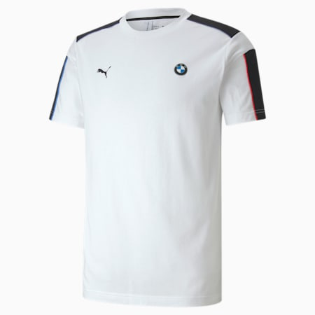 BMW M Motorsport T7 Herren T-Shirt, Puma White, small