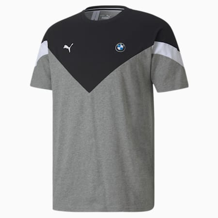 BMW M Motorsport MCS Men's Tee, Medium Gray Heather, small-SEA