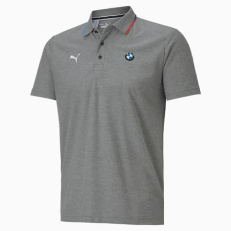 Camiseta tipo polo BMW M Motorsport para hombre, Medium Gray Heather, pequeño