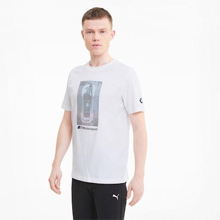BMW M Motorsport Herren T-Shirt mit Grafik, Puma White, small