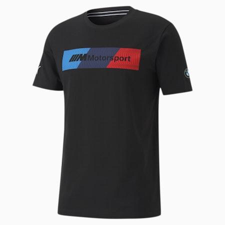 Camiseta con logo BMW M Motorsport para hombre+, Puma Black, pequeño