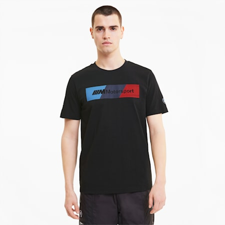 BMW M Motorsport Men's Logo Tee+, Puma Black, small