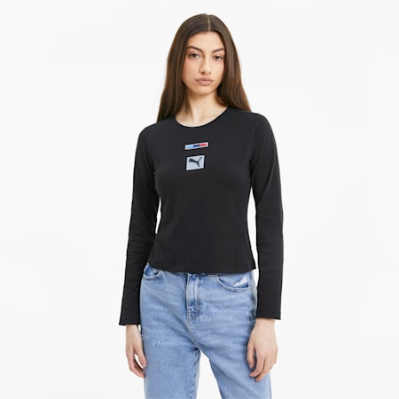 BMW M Motorsport Street Women's T-Shirt, Puma Black, small-IND
