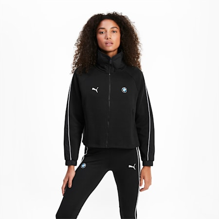 BMW M Motorsport Women's Sweat Jacket, Puma Black, small