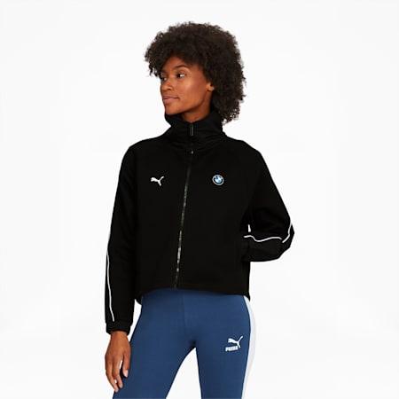 BMW M Motorsport Women's Sweat Jacket, Puma Black, small